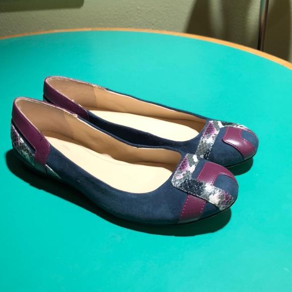 721c0b97fca Calvin Klein Shoes - Calvin Klein Bluish Green   Burgundy Ballet Flat 8